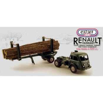 Renault fainéant fardier vert foncé  Norev C37301