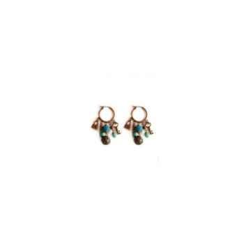 Joyaux de la couronne-Boucle d'oreille créoles feutre encrés-bocfmenc