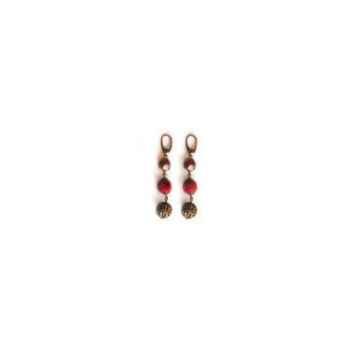 Joyaux de la couronne-Boucle d'oreille perle/feutre/filigrane capiteux-bopffcap
