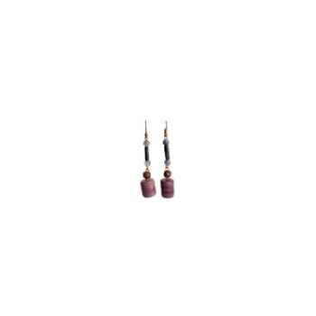 Joyaux de la couronne-Boucle d'oreille tagua encrés-botagenc