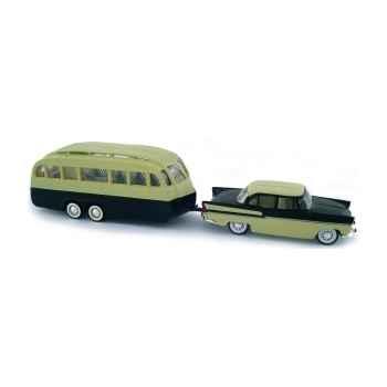 Simca chambord et caravane hénon Norev 579000