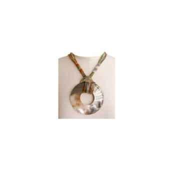 Joyaux de la couronne-Collier talisman court fresques-cotalfre