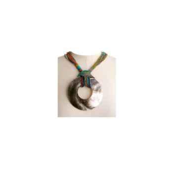 Joyaux de la couronne-Collier talisman court encrés-cotalenc
