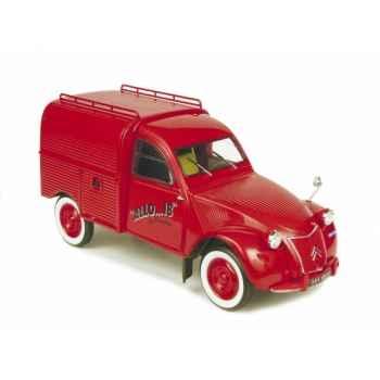 Citroën 2cv fourgonnette pompiers Norev 181501