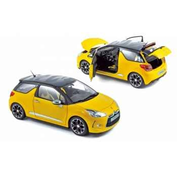 Citroen ds3 2010 pegase yellow with black roof Norev 181541