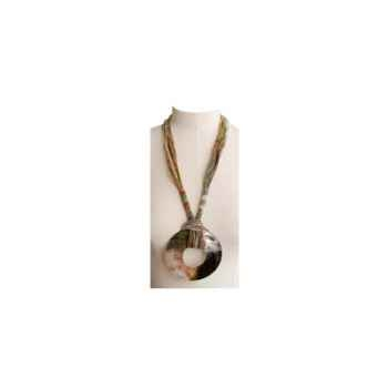 Joyaux de la couronne-Collier talisman long fresques-cosatalfre