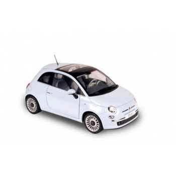 Fiat 500 bleu clair 2007 Norev 187731