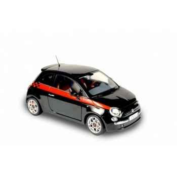 Fiat 500 sport noir 2007 Norev 187730