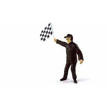 Figurine directeur course avec drapeau 2008  Norev 140510