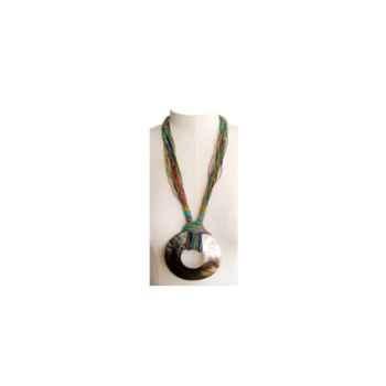 Joyaux de la couronne-Collier talisman long encrés-cosatalenc