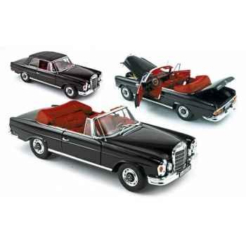 Mercedes benz 280 se cabriolet 1969 jet black Norev 183528