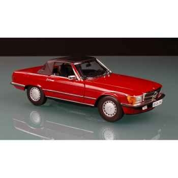 Mercedes sl300 soft top rouge  1986 Norev 183507