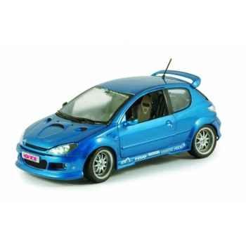Peugeot 206 esquiss' auto impact r bleu récif Norev 184731