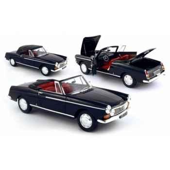 Peugeot 404 cabriolet noire / int rouge 1967 Norev 184763