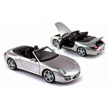 Porsche 911 carrera 4s convertible 2008 arctic grey Norev 187557