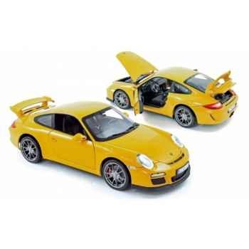 Porsche 911 gt3 2009 speed yellow Norev 187560