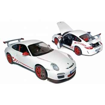 Porsche 911 gt3 rs 2010 - white & red deco  Norev 187566