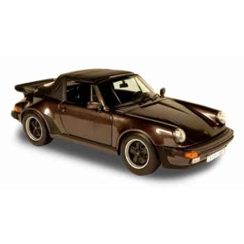Porsche 911 turbo 3.3l cabriolet brun  1987 Norev 187514