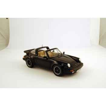 Porsche 911 turbo 3.3l targa noir 1987 Norev 187525