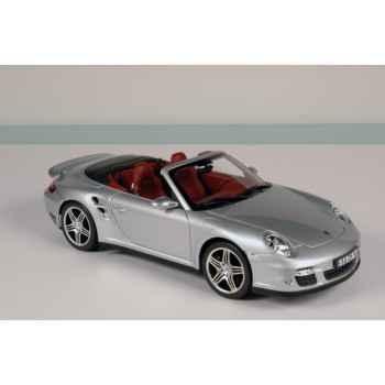 Porsche 911 turbo cabriolet silver 2007 Norev 187501