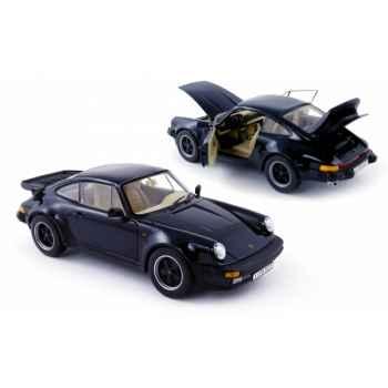 Porsche 911 turbo coupé bleu foncé 1985 Norev 187540