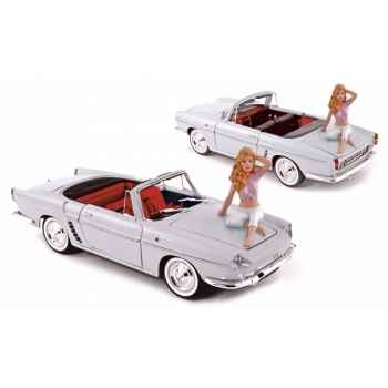 Renault floride blanc 1958 + figurine b. bardot  Norev 185180