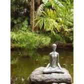 sculpture yoga meditation pose aluminium bs1511alu