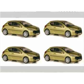 Coffret 4 peugeot 207 2006 rouge aden / gris aluminium Norev 472776