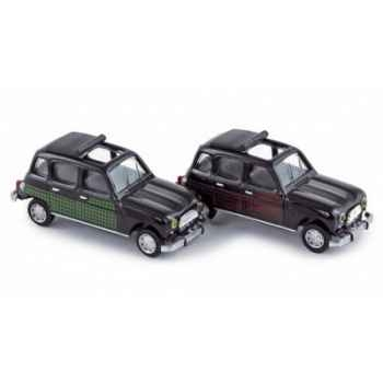 Coffret 4 x renault 4l parisienne 1964 green & red side deco  Norev 510033
