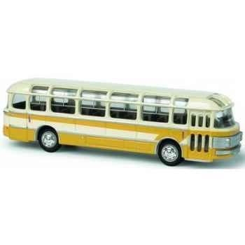 Coffret de 4 bus saviem beige et jaune ho Norev 521003
