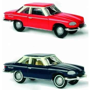 Coffret de 4 panhard 24ct bleu et rouge ho Norev 451788