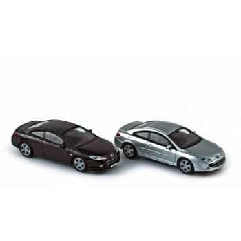 Coffret de 4 peugeot 407 coupé aluminium / nera black Norev 474782