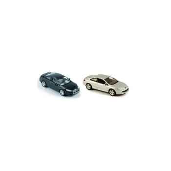 Coffret de 4 peugeot 407 coupé noir et gris Norev 474780