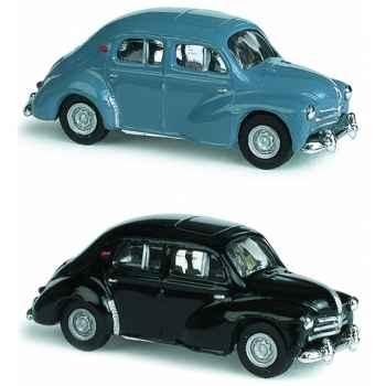 Coffret de 4 renault 4cv bleu et noir ho Norev 513201