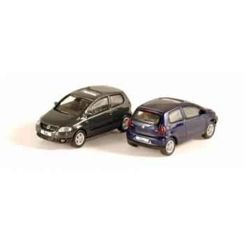 Coffret de 4 volkswagen fox 2005 bleu indigo / gris urano Norev 840153