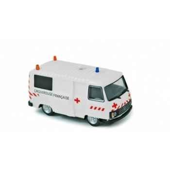 Coffret de 4 x peugeot j9 1987 ambulance  Norev 472107