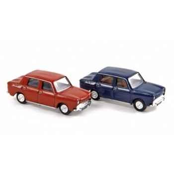 Coffret de 4 x simca 1000 1962 red / blue  Norev 571091