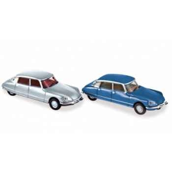 Coffret x 4 citroën ds23 1972 silver / blue Norev 157062