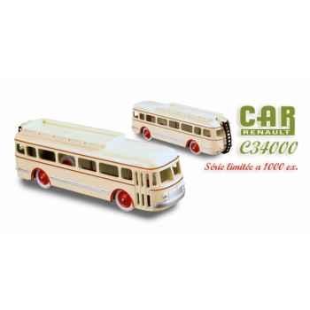 Autocar renault 120cv beige liseret rouge 1950 Norev C34000