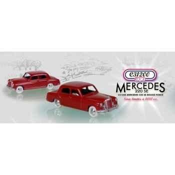 Mercedes-benz 220 se rouge foncé Norev C31200