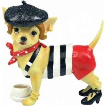 Figurine chien chihuahua Parisienne CHI13698