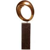 sculpture hoop garden sculpture bronze nouveau et albatre noir bs3409nb alab