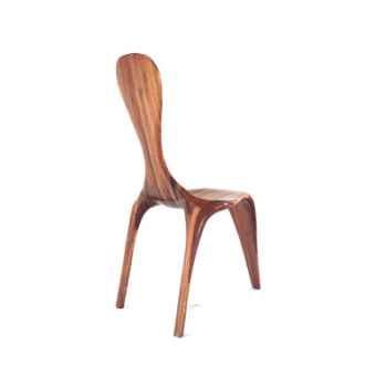Chaise Ligne d\'eau 3 pieds - 100 cm x 45 cm - en bois de Rauli - LAST-MLI3P-R