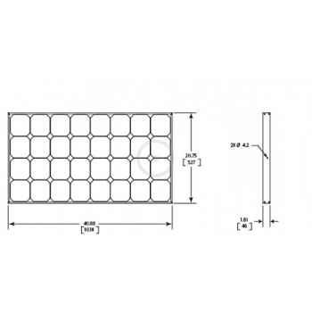 Panneau solaire 100w à très haut rendement HP12-100