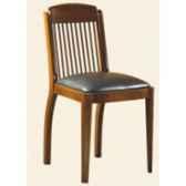 chaise de coursives sans patine epoque 19eme dessus cuir 44 x 86 x 50 cm co 090