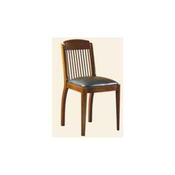 Chaise de coursives, sans patine, époque 19ème, dessus cuir - 44 x 86 x 50 cm - CO-090