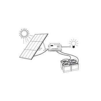 Kit solaire 10w - 12v KITSOL-1