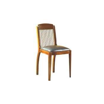 Chaise de coursives, sans patine, époque 19ème, dessus cuir pleine fleur - 44 x 86 x 50 cm - CO-090pc-pf