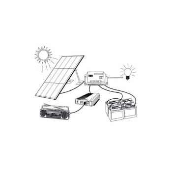 Kit solaire 380w - 24v/220v KITSOL-8-PH24-750