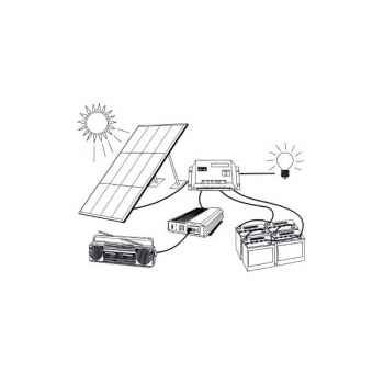Kit solaire 1140w - 24v/220v KITSOL-10-PH24-1600